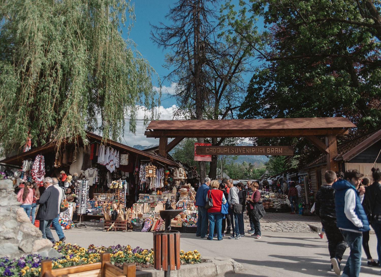 Market at Bran Castle in Transylvania