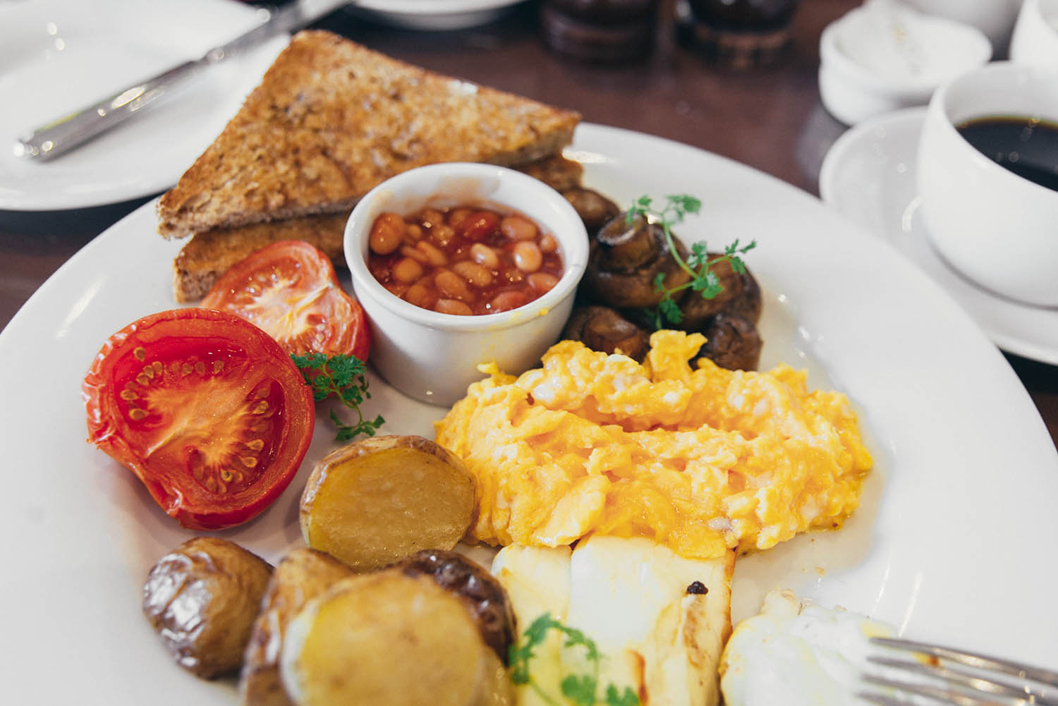 British Breakfast at London Carriage Works
