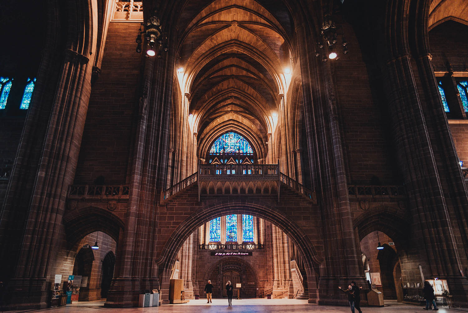 Inside the beautiful Liverpool Cathedral