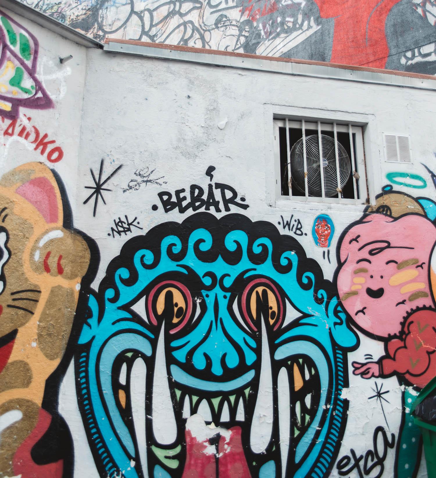 Street art in Paris 13th arrondissement