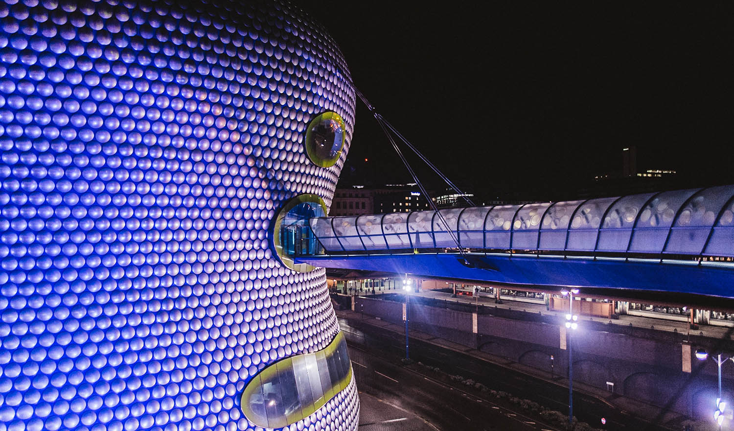 Selfridges by night - in Birmingham