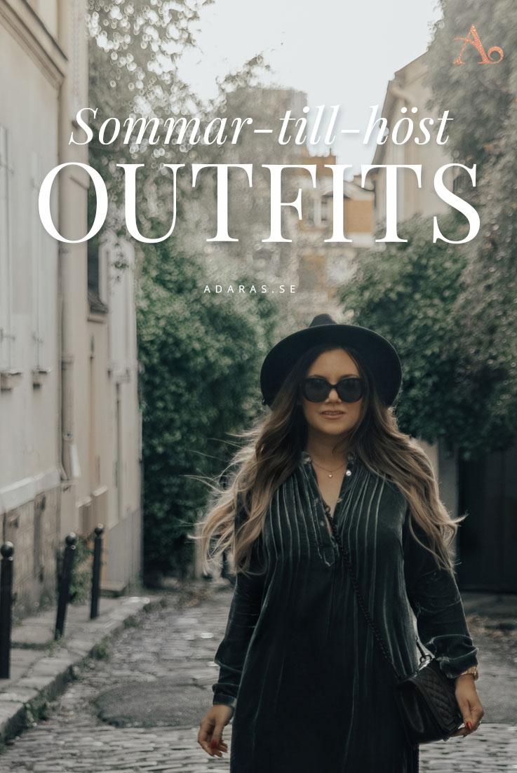4 Outfits att uppdatera från sommar till höst