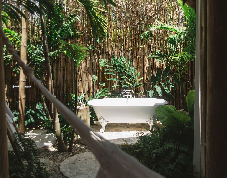 Outdoor Bathtub in Golden Eye Resort
