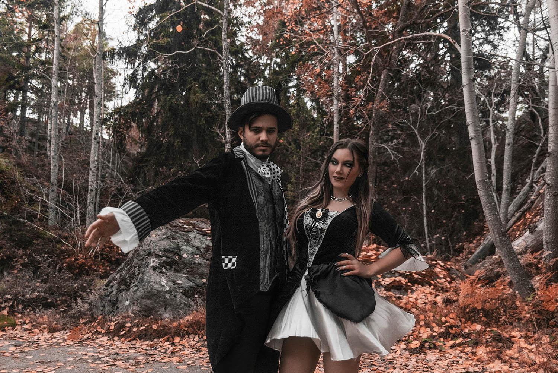 Vampyrer - Maskeraddräkter för par till Halloween