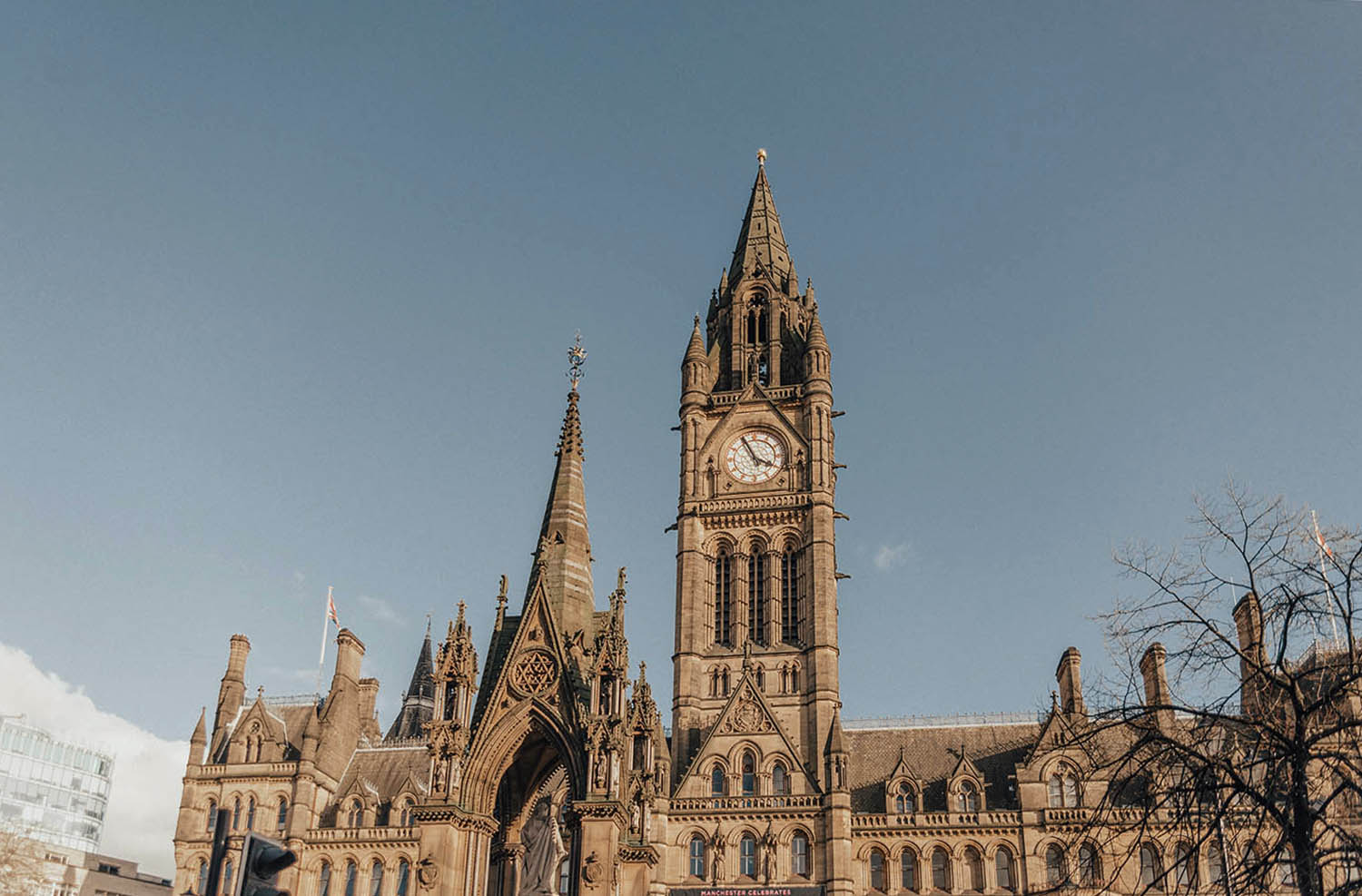 Manchester Town Hall in Albert Square