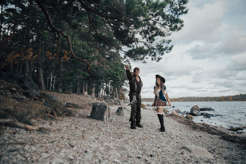 Pirater i Nynäshamn - Maskeradkläder för par