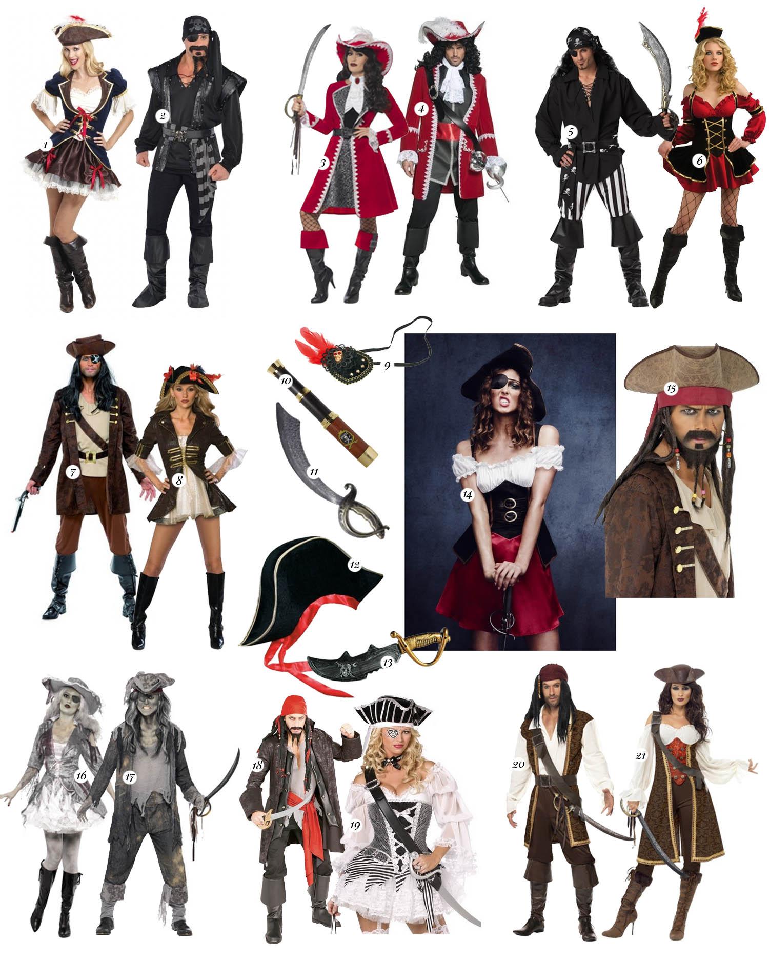 Maskeradkläder för par till Halloween - Outfits för Pirater & Sjörövare