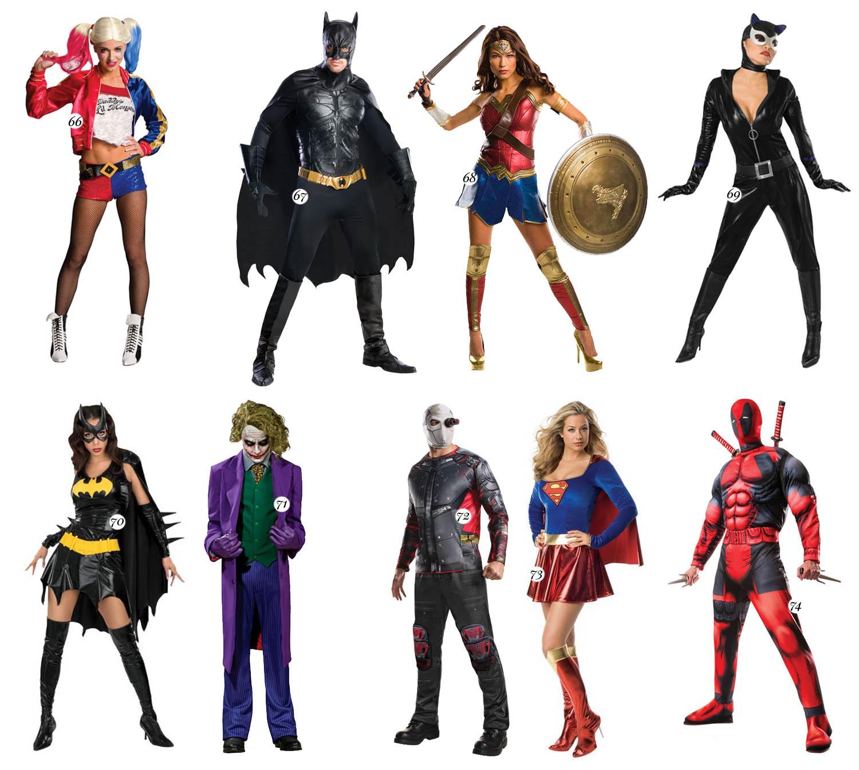Superhjältar - Maskeradkläder för par