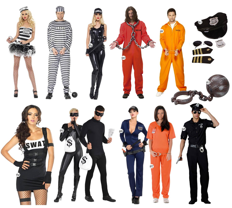 Tjuv & Polis Maskeradkläder för par