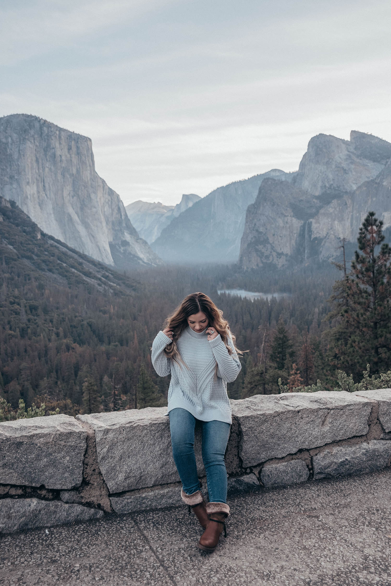 Cozy Knit Outfit in Yosemite National Park