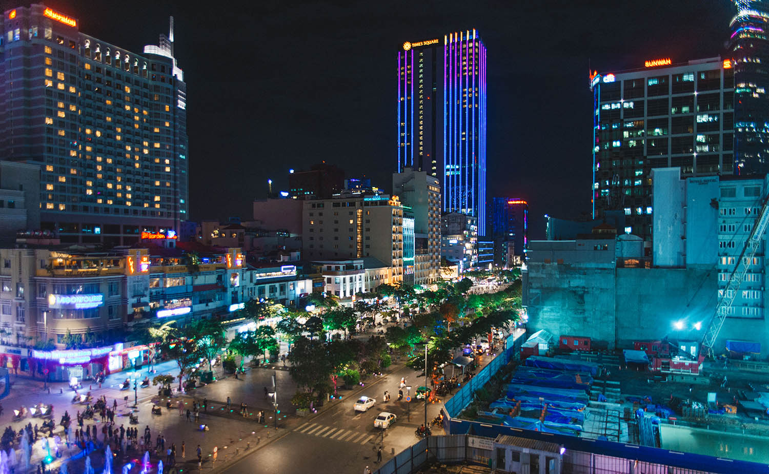 Ho Chi Minh City by night - View from Rex Hotel