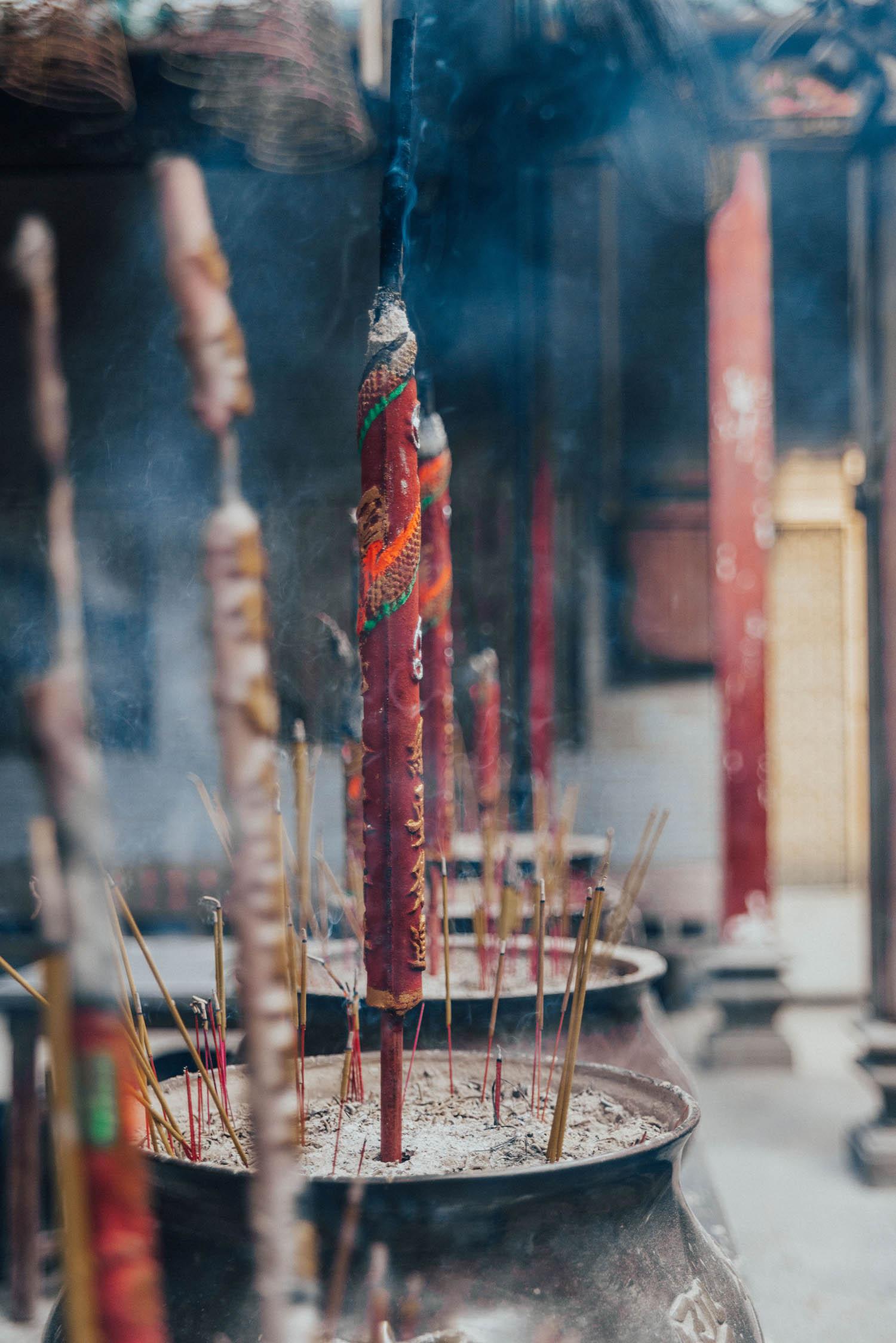 Incense at Thien Hau Pagoda - Buddhist Temple in Ho Chi Minh City / Saigon