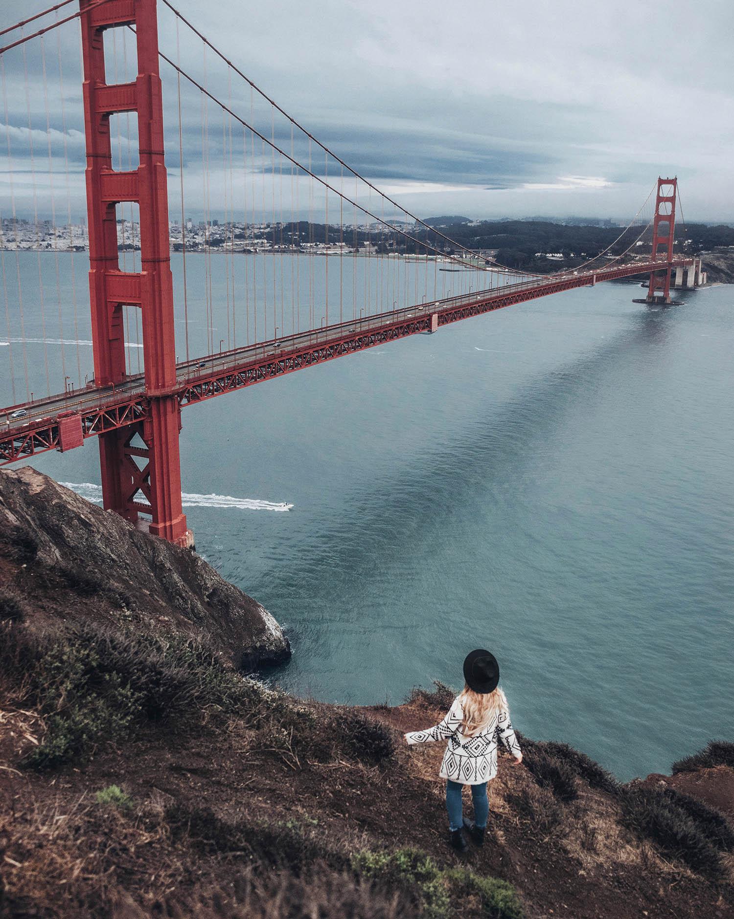 Adaras by Golden Gate Bridge - Battery Spencer in San Francisco