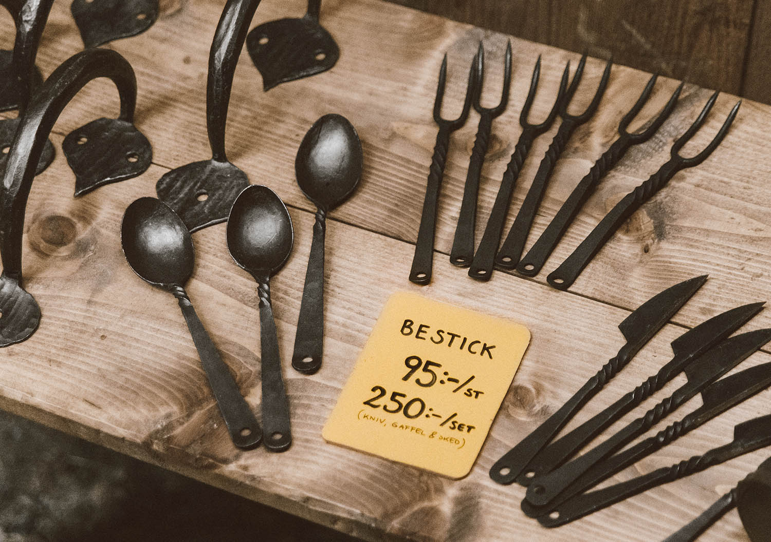 Medieval cutlery at Christmas Market