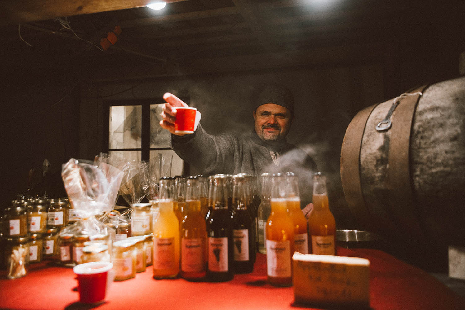 Warm spiced wine at Medieval Christmas Market in Visby