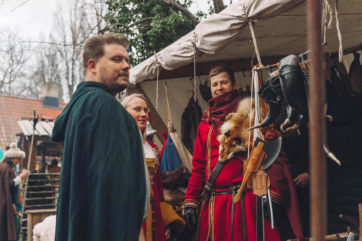 Medieval Outfits at Medieval Christmas in Visby