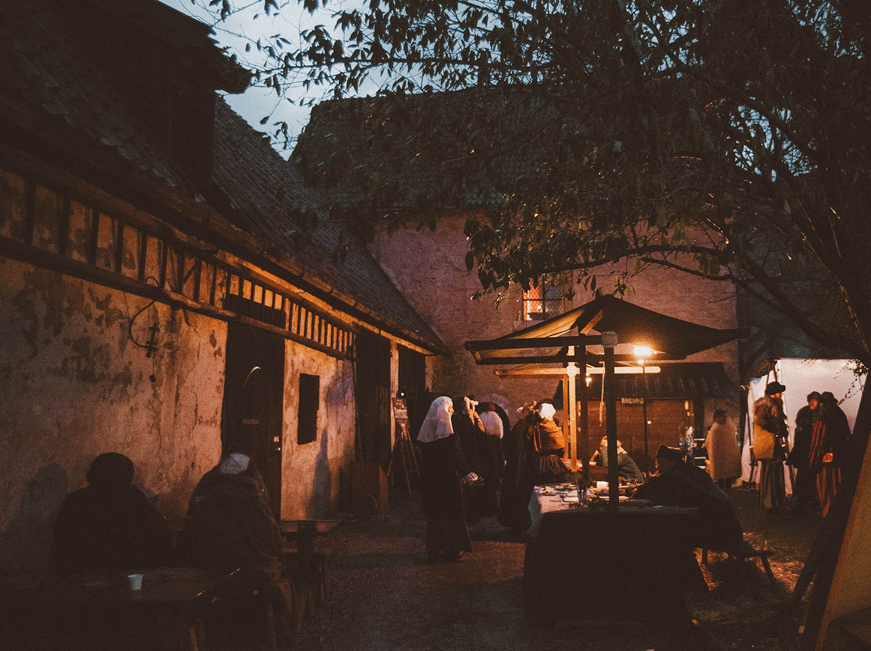Medieval Christmas Market in Gotland, Sweden
