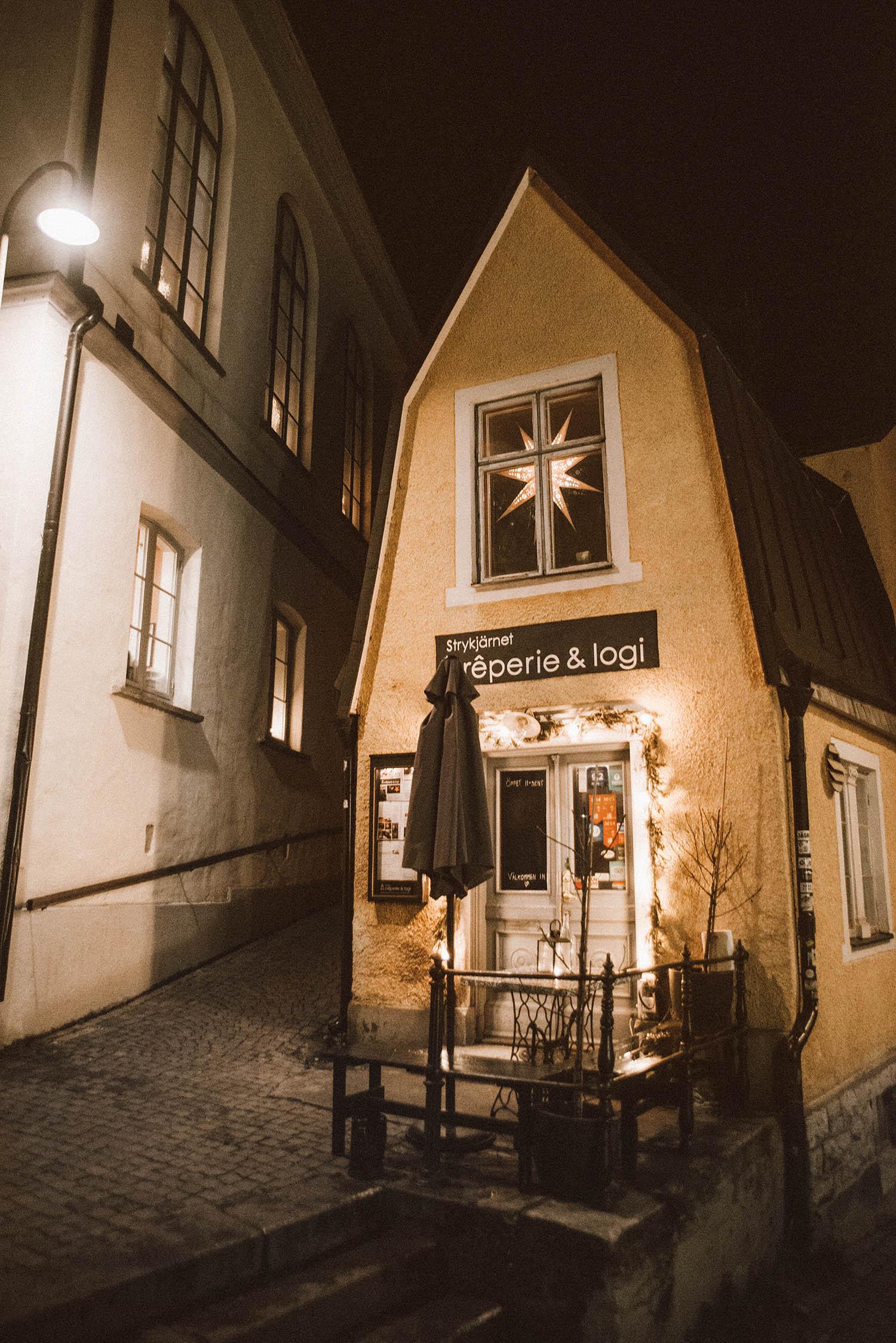 Mysig gata i Visby