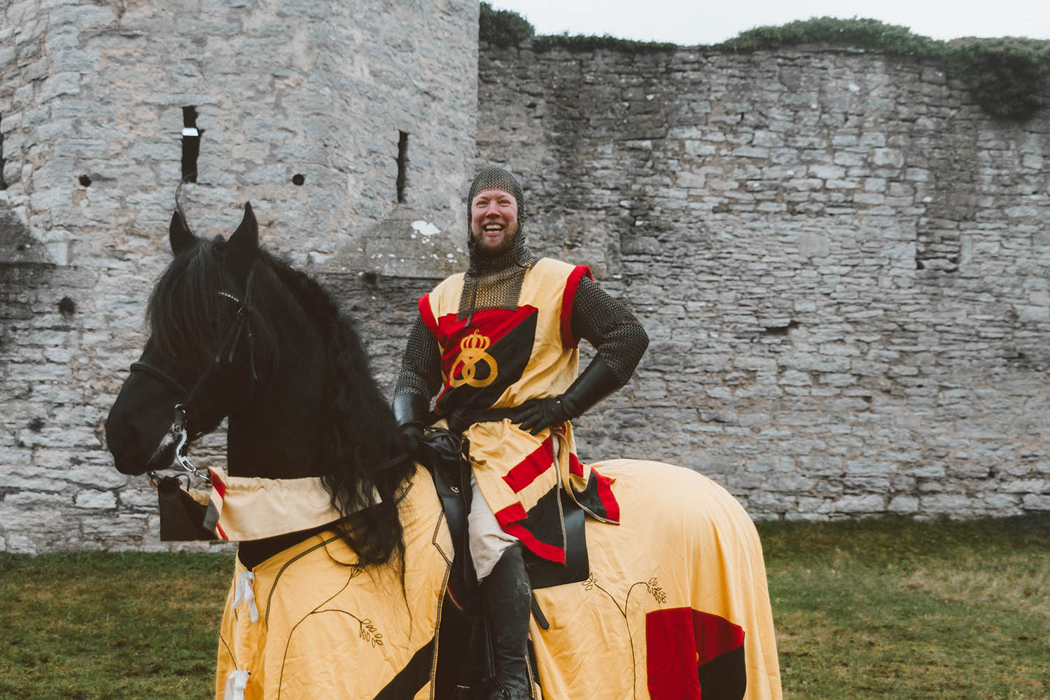Medieval knight at Tournament in Visby