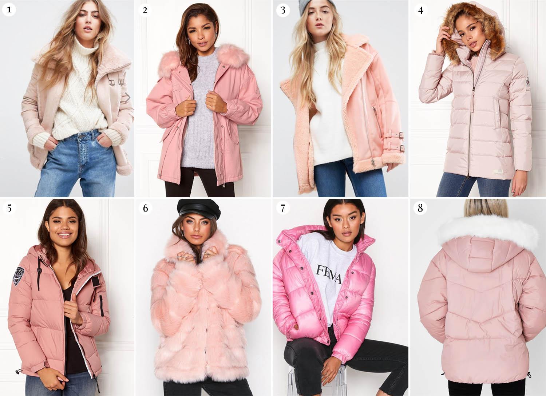 Rosa Vinterjackor