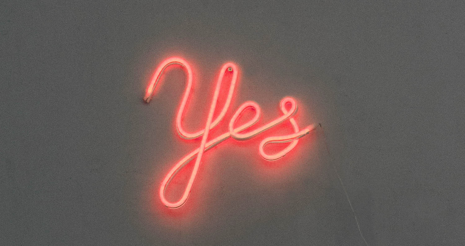 Yes Neon Sign from Lagerhaus