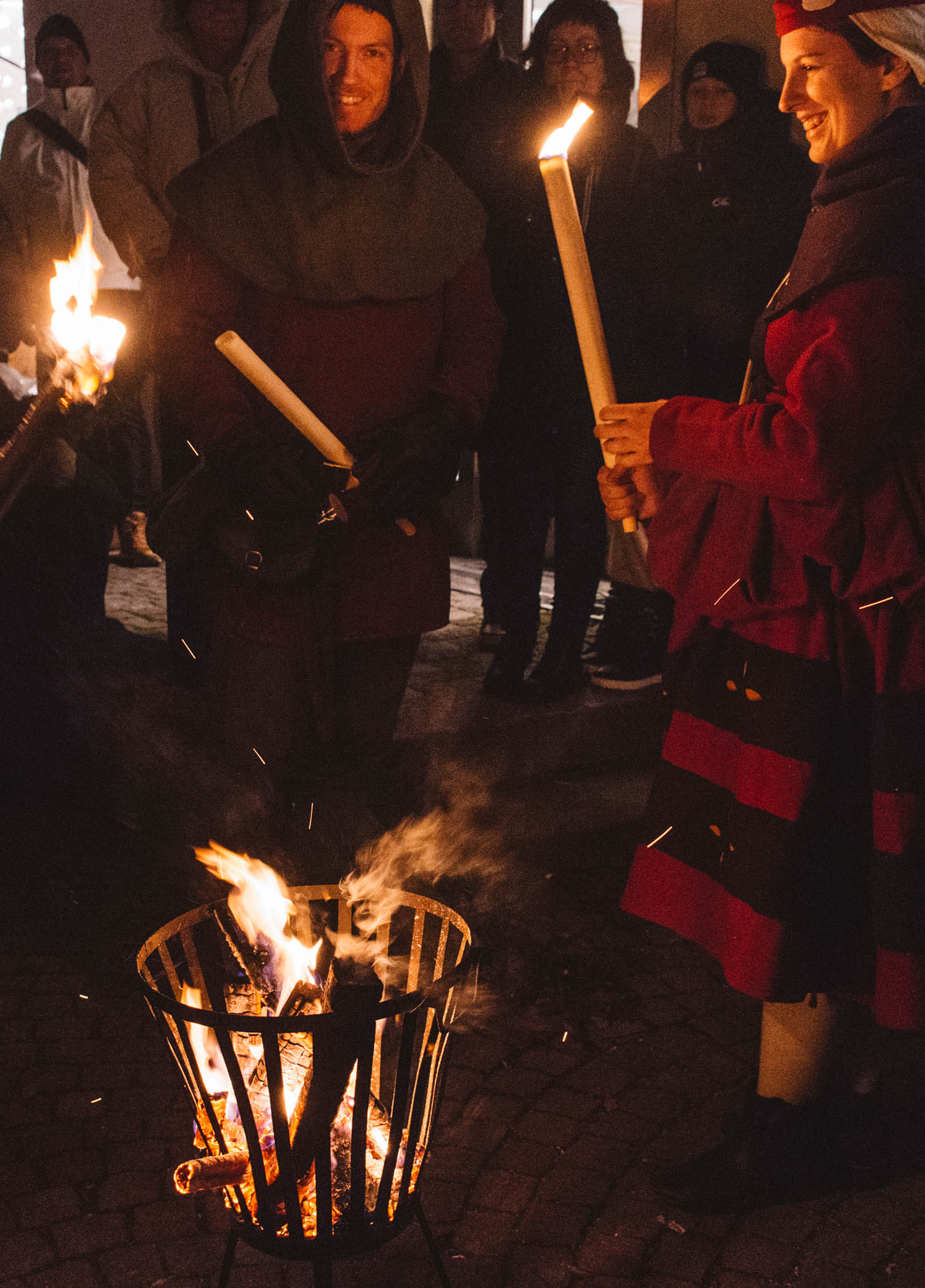 Torchlight procession in Visby