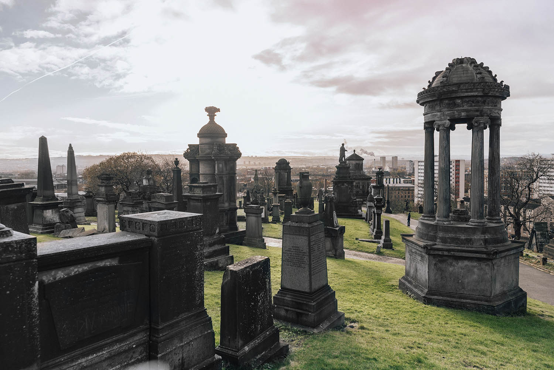 The Glasgow Necropolis Cemetery
