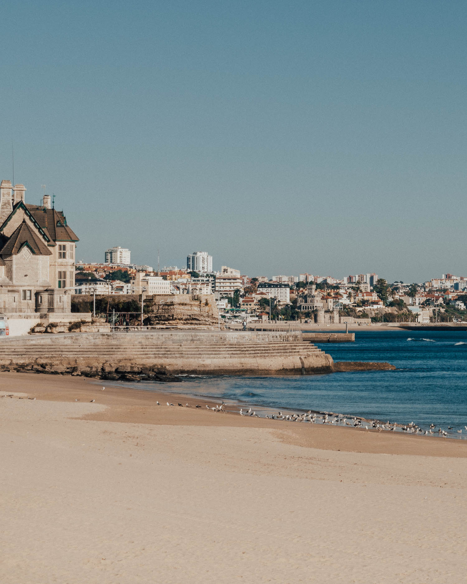 Golden beach in Cascais