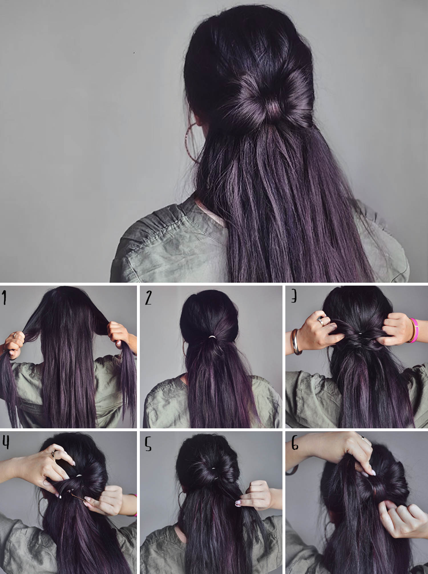 Adaras enkla och snygga frisyrer: Rosettfrisyr