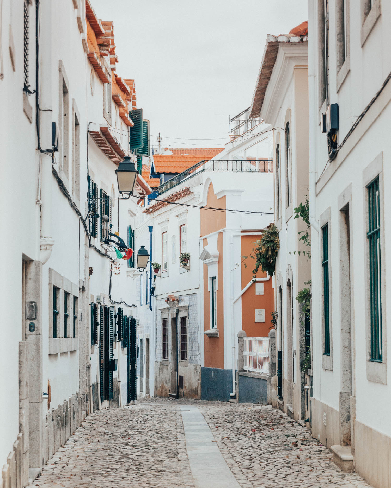Pretty Street in Cascais, Portugal
