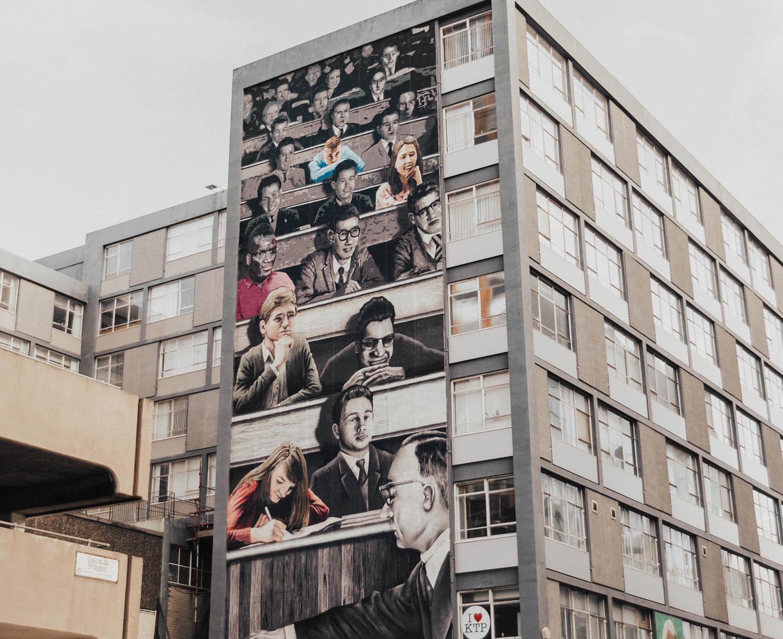 Strathclyde University Wonderwall - Street Art in Glasgow