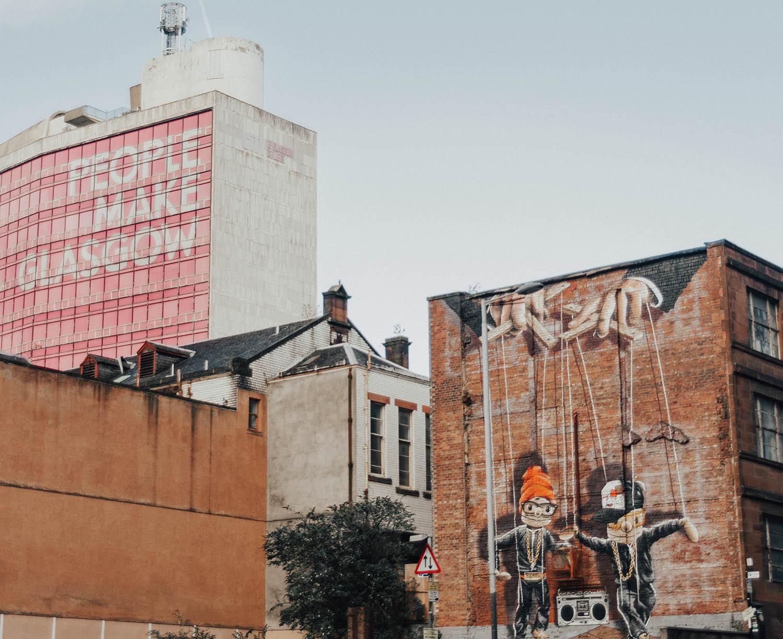 Hip Hop Marionettes - Street Art in Glasgow