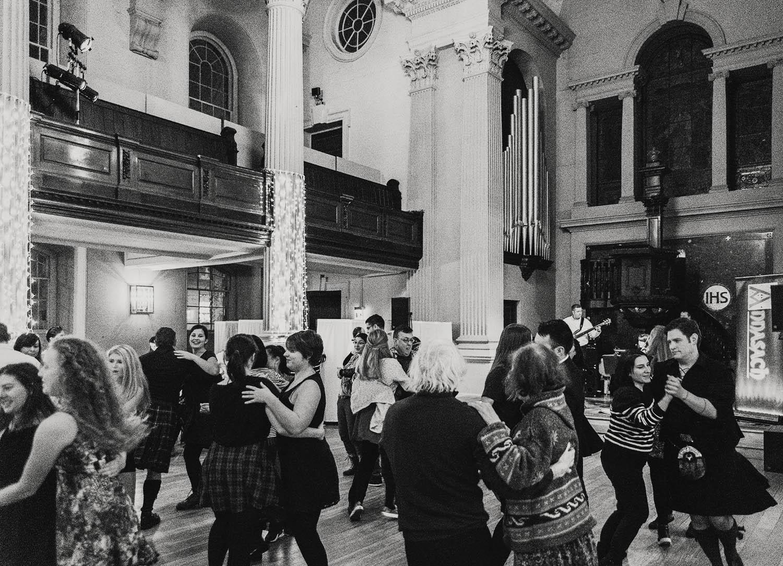 Ceilidh dancing in Glasgow, Scotland