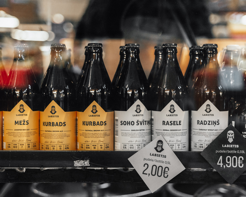 Labietis Beer at Riga Central Market