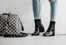 Adaras Black Boots & Malene Birger Weekend Bag