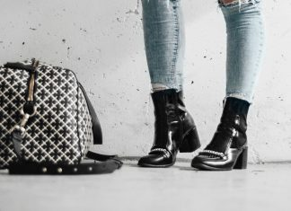 Adaras Black Boots & Malene Birger Weekend Bag
