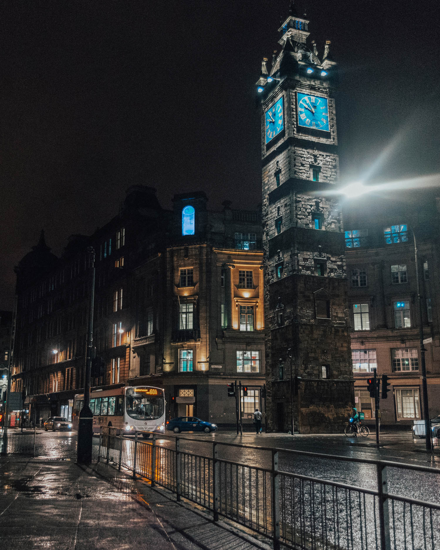 Glasgow by night, Scotland