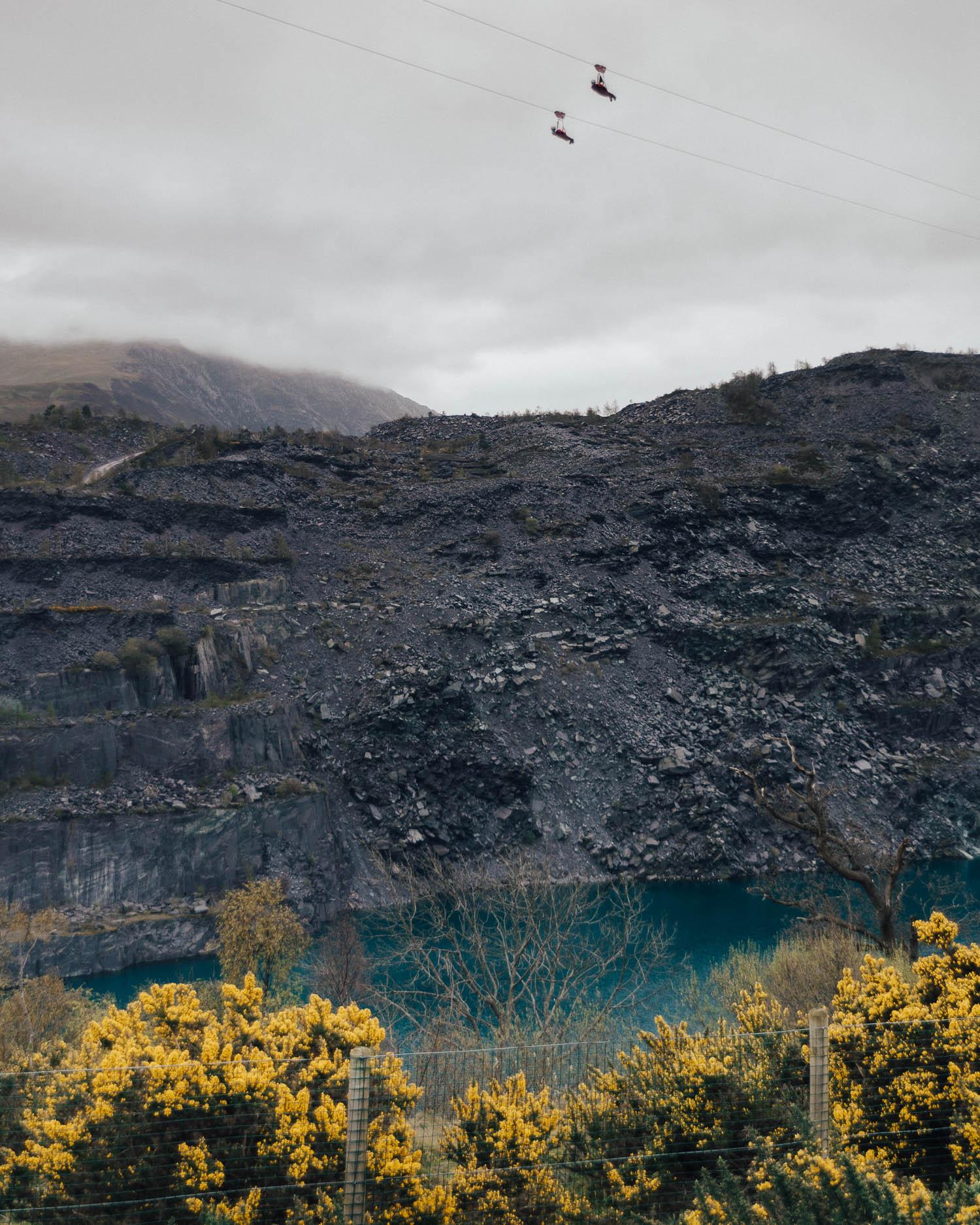 Zipline in Snowdonia, Wales