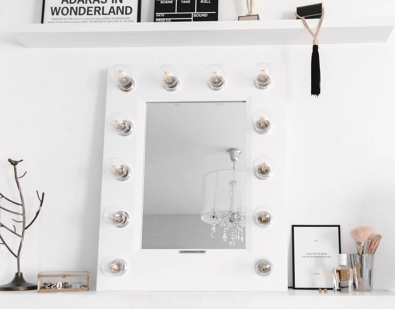 Inredning med Iconmirror Sminkspegel & Egen skylt