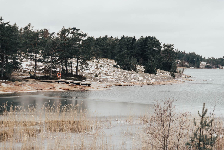 Vinterlandskap på Åland
