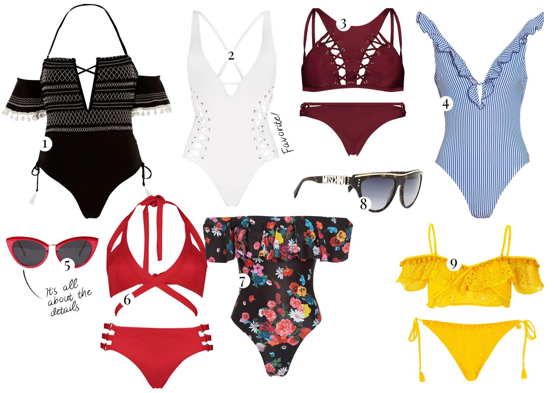 Badkläder och Bikinis - Packlista till Thailand