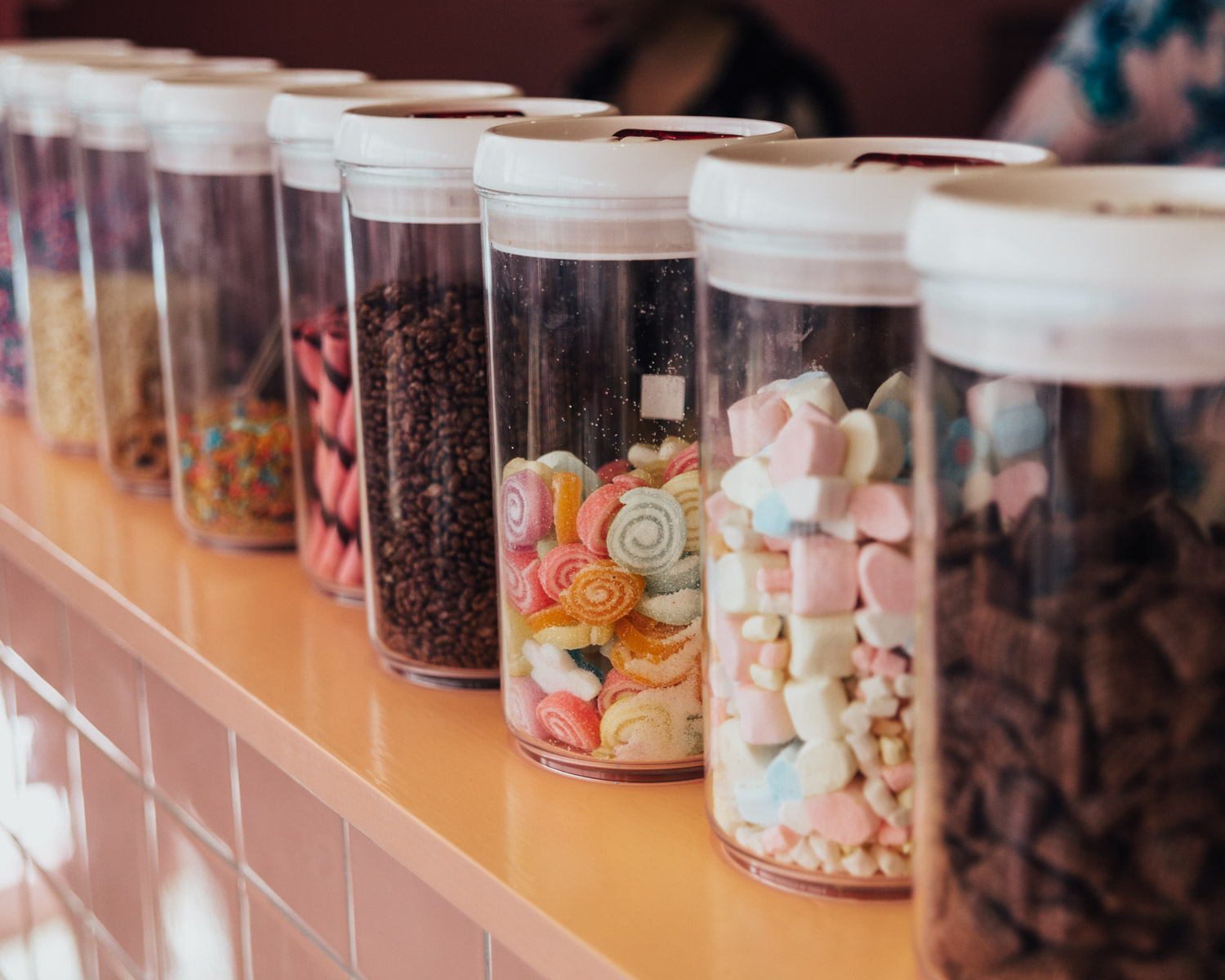 Choose your toppings at Pink Planter Cafe, Bangkok