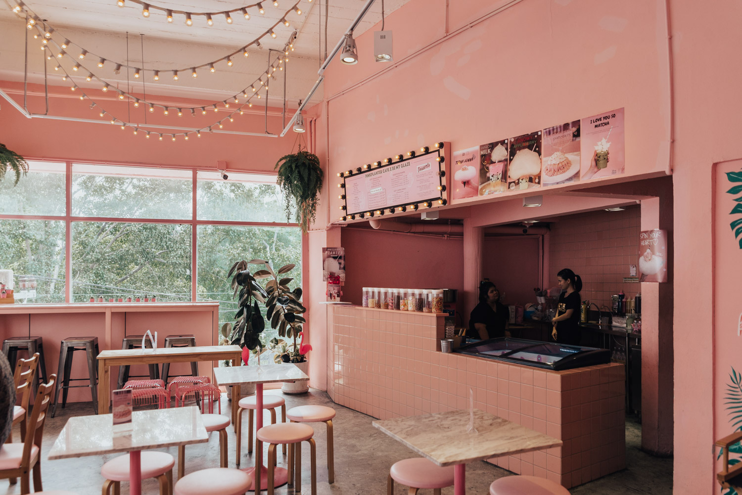 The Cute Pink Planter Cafe, Bangkok Thailand