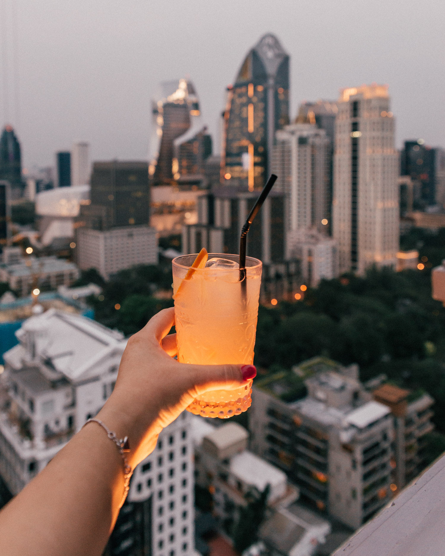 Drink at The Speakeasy Rooftop, Hotel Muse