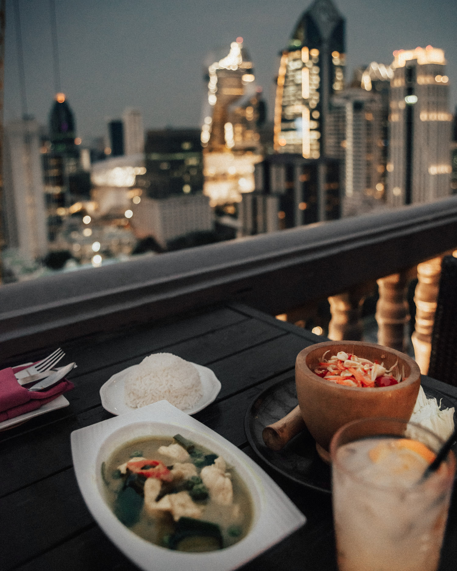 Dinner in Bangkok at The Speakeasy Rooftop, Hotel Muse