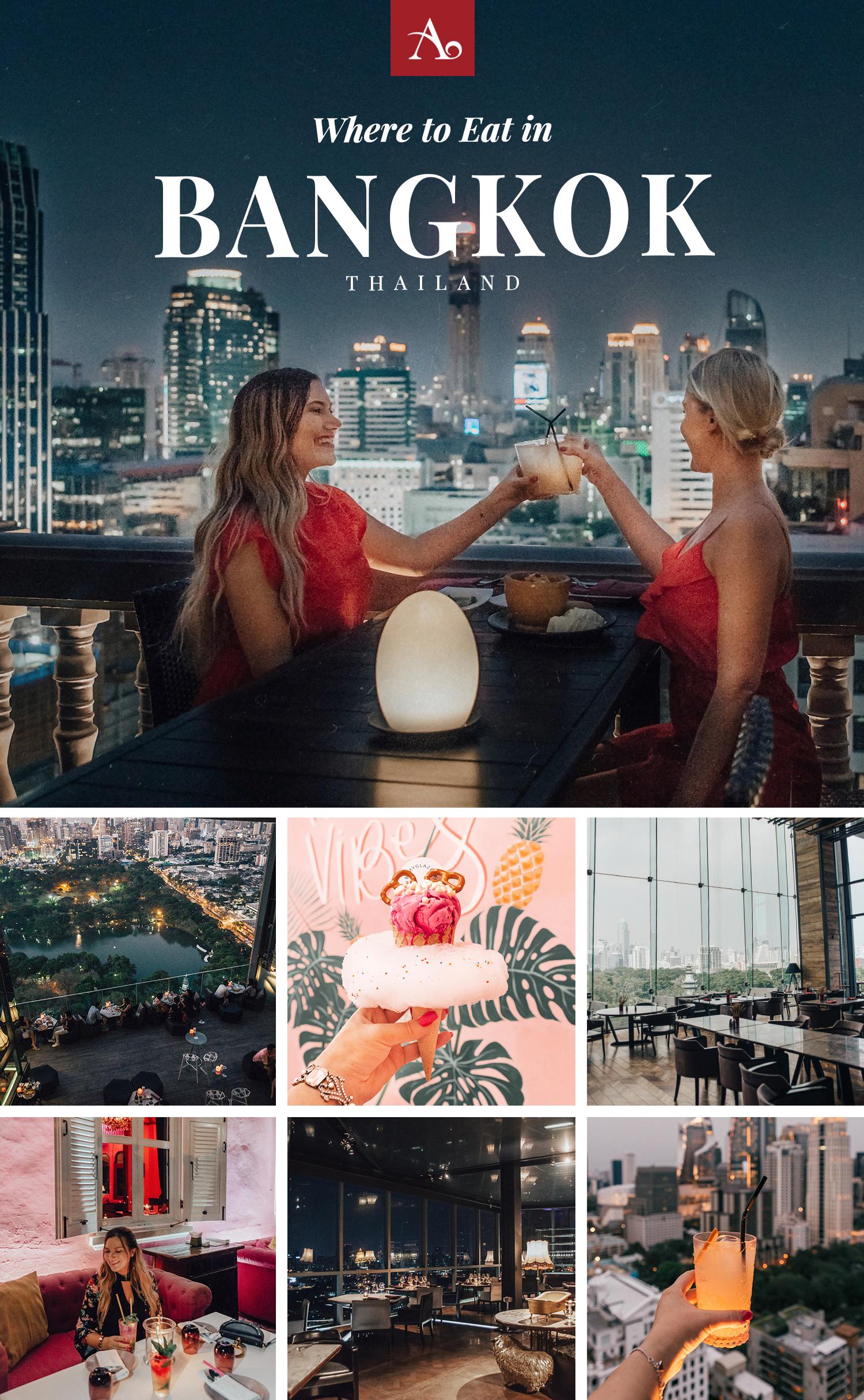 Fantastiska Platser att äta på i Bangkok, Thailand