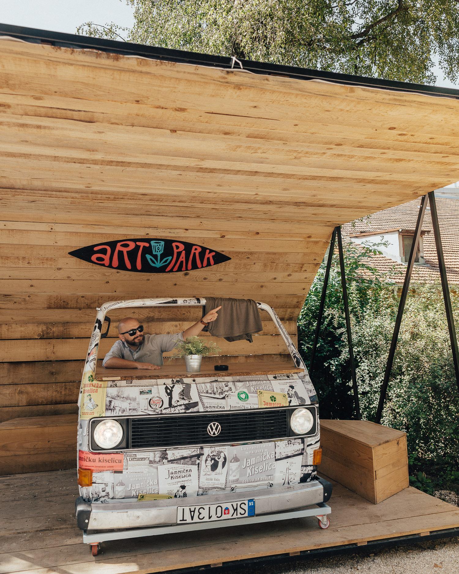 Truck in Art Park, Zagreb