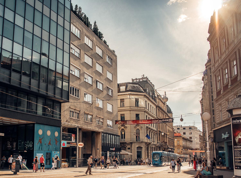 Shopping Street in Zagreb, Croatia