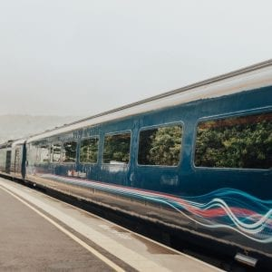 Train to Bath, Somerset, England