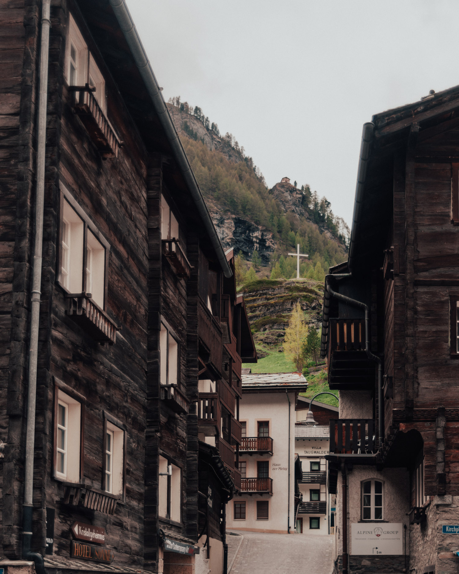 Old part of the village in Zermatt
